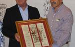 El presidente de la Diputación de Burgos, César Rico (Izda.) junto al presidente de la Asociación, José Luis Villegas