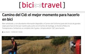 Portada del nuevo artículo de BiciTravel dedicado al Camino del Cid