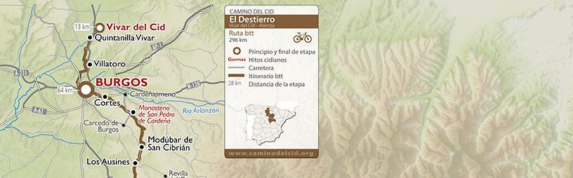 Cabecera mapa BTT-MTB El Destierro