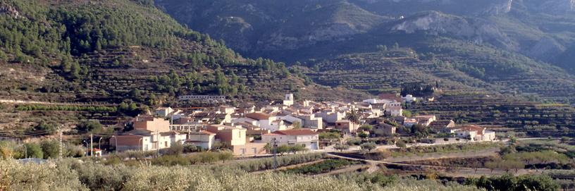 Vista de Alfarrasí, Valencia.