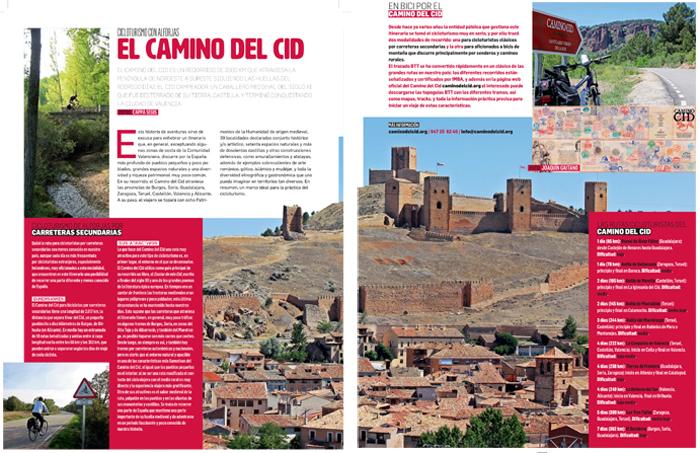 Reportaje de la revista Bicitravel dedicado al Camino del Cid