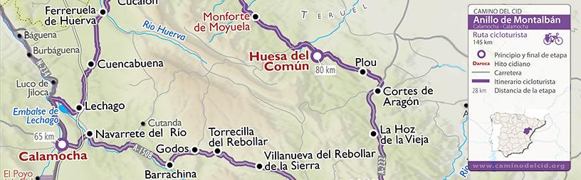 Cabecera mapa Cicloturista Anillo-de-Montalbán