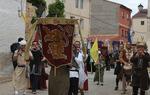Un momento del desfile inaugural de los Encuentros de Mío Cid