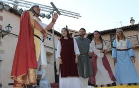 Un momento de la recreación de la Leyenda de Pero Gil en Tramacastilla, Teruel