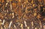 """La fuerza del Cantar de Mío Cid fue tan grande que muy pronto traspasó las fronteras y fue """"adoptado"""" por los franceses, especialmente desde la publicación de la obra teatral del Cid, de Corneille, en el siglo XVII. Imagen: existen numerosas representaciones artísticas del mito del Cid. Una de las más interesantes se encuentra en las escaleras del Palacio Provincial de la Diputación Burgos, frescos obra del pintor burgalés Vela Zanetti / ALC."""