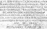 Inscripción que se realiza en el momento en el que se levanta el monumento en el año 1784 (Foto:Colección Asociación Ego Ruderico)
