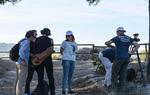 El equipo preparándose para grabar en Calatayud, Zaragoza