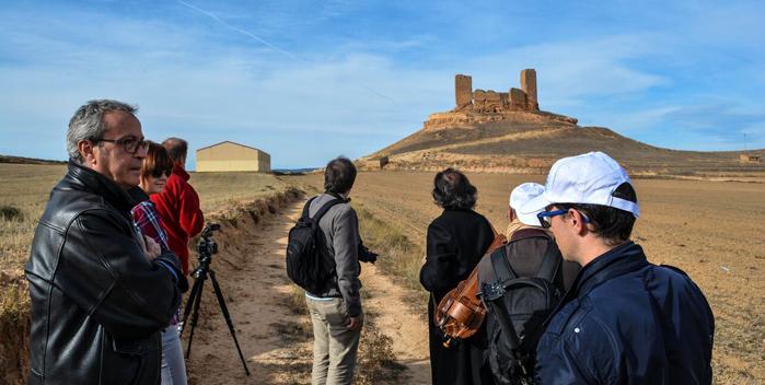 Un momento de la grabación en el corazón del Camino del Cid, en Montuenga de Soria