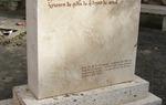 Según el Cantar, en Cella el Cid reunió a cuantos quisieran acompañarle a Conquistar Valencia. Hito conmemorativo en Cella / ALC.