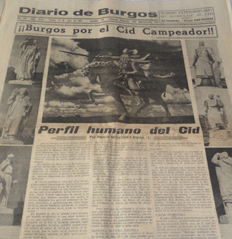 Portada del Diario de Burgos del 24 de julio de 1955