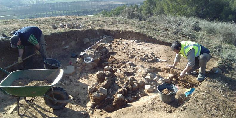 """En 2016 y 2017 la Diputación de Zaragoza ha impulsado sendas campaña de excavación en el paraje conocido como """"La Mora Encantada"""""""