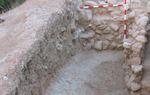 Parte de las estructuras halladas durante los trabajos de excavación