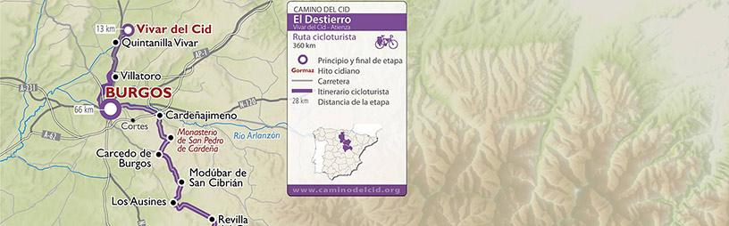 Cabecera mapa Ciclotursmo El Destierro