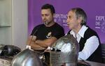 """Javier Alonso (a la izda. de la imagen), presidente de la Asociación Vivar Cuna del Cid junto a Juan Carlos Chicote, presidente de """"Bohurt Castilla"""""""