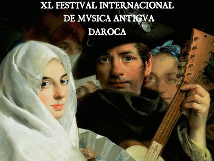 Cartel del Festival de Música Antigua de Daroca, del 3 al 11 de agosto