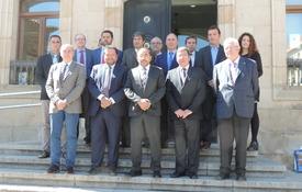 Foto de grupo de los asistentes al Consejo Rector del Consorcio Camino del Cid celebrado en Soria