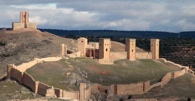 El castillo de Molina de Aragón, Guadalajara donde tendrá lugar la representación del Cantar de mío Cid