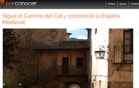 Entrada del blog porconocer.com dedicada al Camino del Cid