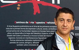 Ramón Montes, gerente de Caminos de Arte Rupestre Histórico