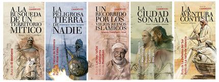 Portadas de los folletos del Camino del Cid