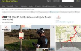Una de las rutas del Camino del Cid que incorpora la plataforma Outdoor Active